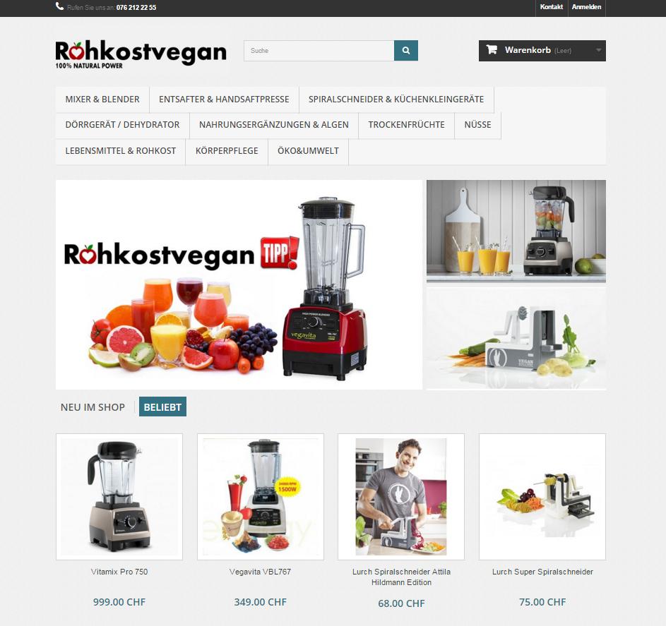 Rohkostvegan webshop