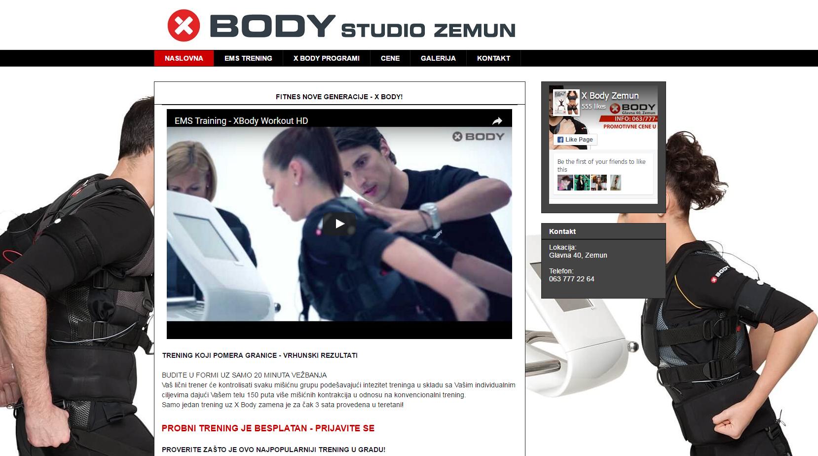 X Body studio Zemun